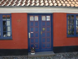 Denmark, Ribe – red and blue, July 2012