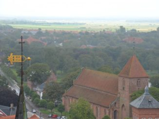 Denmark, Ribe – view with church, July 2012