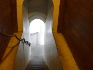 Denmark, Ribe – staircase, July2012