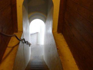 Denmark, Ribe – staircase, July2012