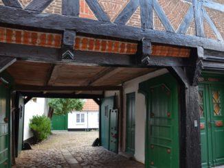 Denmark, Ribe – green doors, July 2012