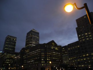 Canary Wharf is similar to Tokyo