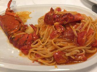 ローマで食べたロブスター・パスタ