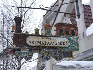 フィンランド、ロヴァニエミ-看板 2006年