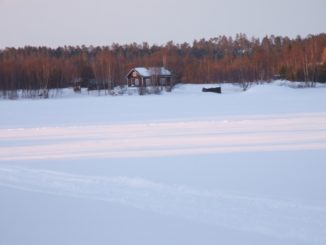 Finland, Inari – frozen lake, 2006