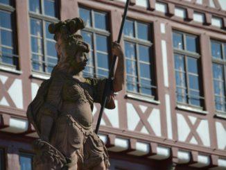 Germany, Frankfurt – statue, Sept. 2012