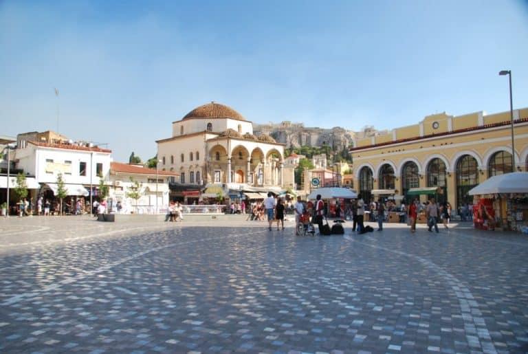 Grecia, Atene – piazza, agosto 2009 (Atene)