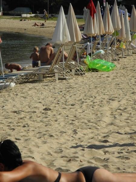 Nuotare sull'isola di Thassos