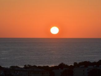 hotel view – sunset, Apr.2015