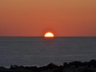 hotel view – sun half set, Apr.2015