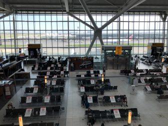 ヒースロー空港ターミナル5の待合室