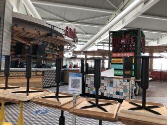 ヒースロー空港の閉まっていたレストラン