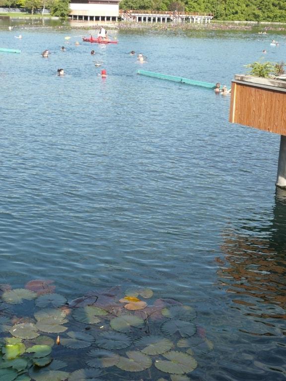 Huge hot spring lake in Heviz