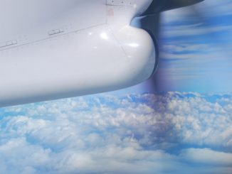 Flying with propeller to Budapest
