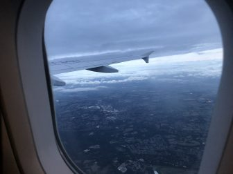England-in the air-window-view