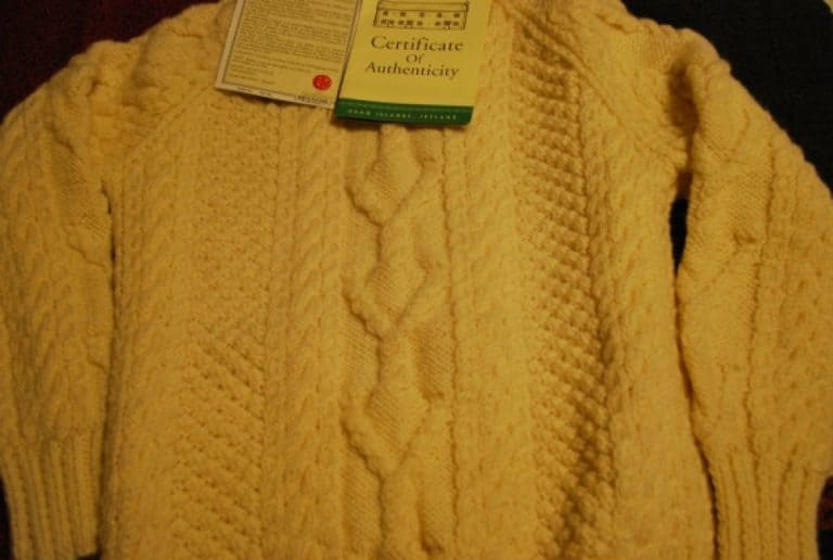 This is an Aran Sweater
