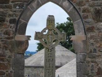 Ireland, Clonmacnoise – framed cross, 2011