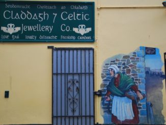 Ireland, Galway – picture on wall, July 2011
