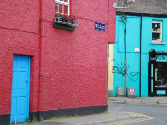 Ireland, Galway – blue door and red wall, July 2011