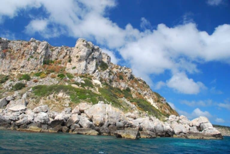 Seeing Tremiti from the sea