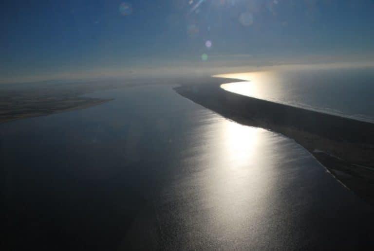 Sulla via di casa di ritorno in elicottero dalle Isole Tremiti