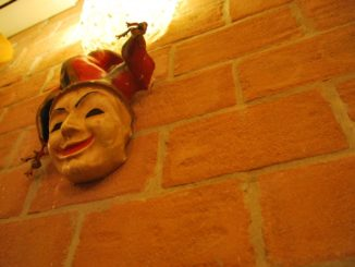 Italy, Venice – face on the wall, Nov. 2012