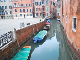 Italy, Venice – canal and square, Nov. 2012