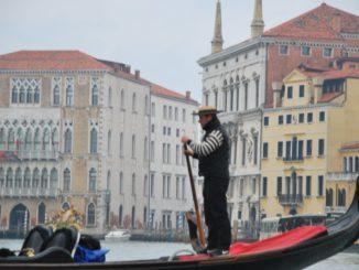 Italy, Venice – typical gondolier, Nov. 2012