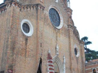 Italy, Venice – church and gondola, Nov. 2012