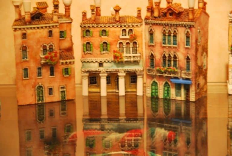 Modellino di una casa di Venezia