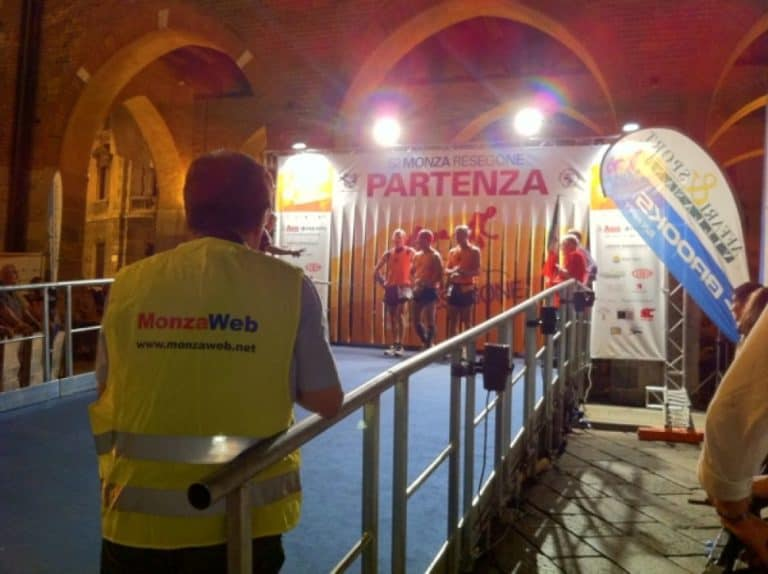 Marathon competition at night