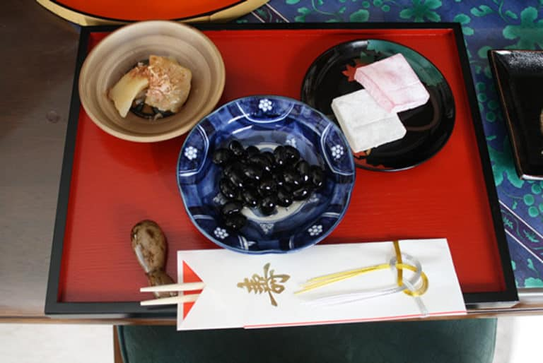 Japanese food on the New Year Day
