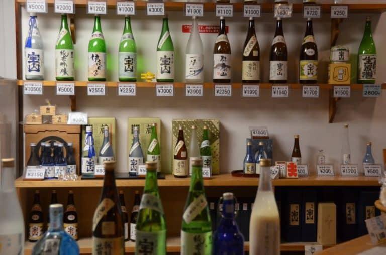 Riscaldarsi degustando sake