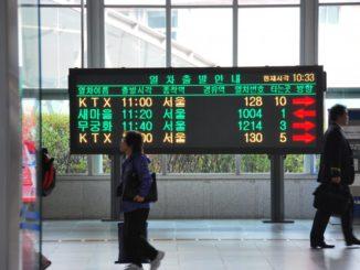Korea, Busan – timetable, Apr.2012