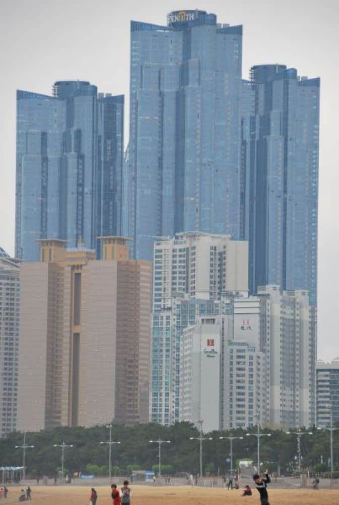 Vivere nei grattacieli di Busan