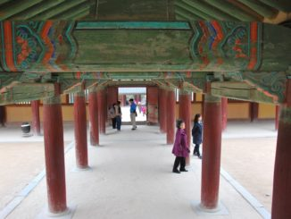 Korea, Gyeongju – pillars, Apr.2012