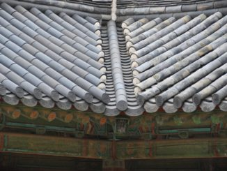 Korea, Gyeongju – tiled roof, Apr.2012
