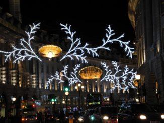 Sono cambiate le illuminazioni natalizie di Regent Street