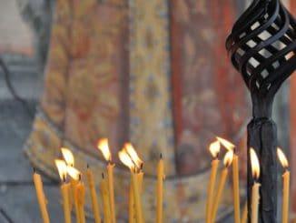Macedonia, St. Jovan Bigolski – candles, 2011