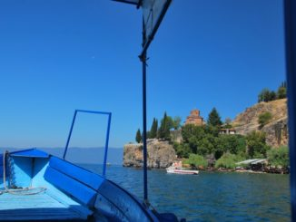 Boat on Lake Ohrid