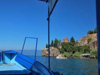Barca sul lago di Ohrid