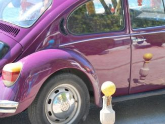Macedonia, Ohrid – purple car, 2011