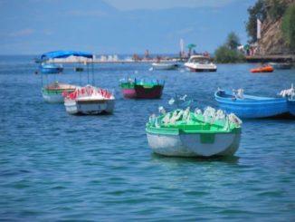 Macedonia, Ohrid – lots of boats, 2011