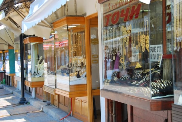 Streets of jewellery shops