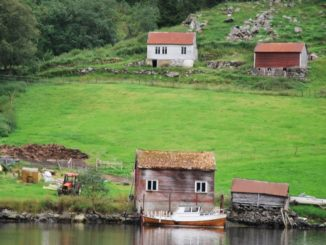 Norway, Sognefjord – small houses, 2009