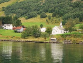 Norway, Sognefjord – white church, 2009