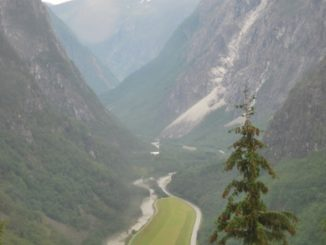 Norway, Stalheimskleiva Road – view, 2009