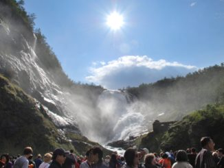 Norway, Flamsbana railway – water fall, 2009