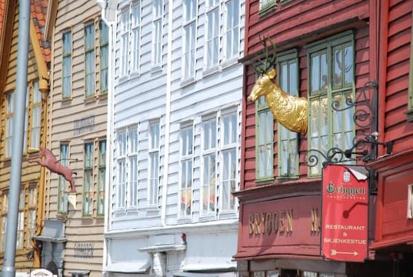 Norway, Bergen – colourful houses, 2009 (Bergen)