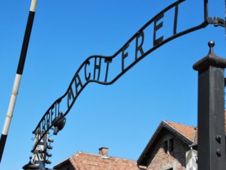 Poland, Auschwitz – entrance, May 2009